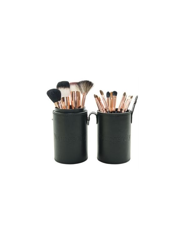 Mineral Makeup Brush Kit - Black Case